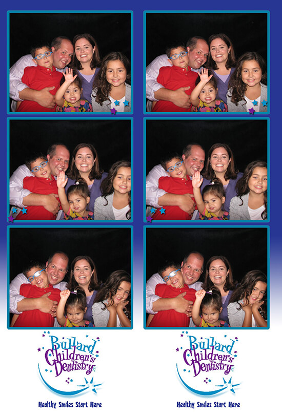 Photo booth pictures of Dr. George and his family