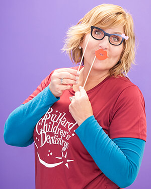 Bullard Children's Dentistry staff member - Dawn's silly photo