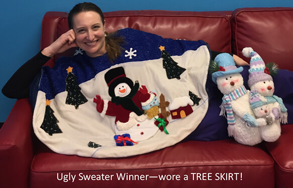 Bullard Children's Dentistry staff member - Gillian's ugly sweater