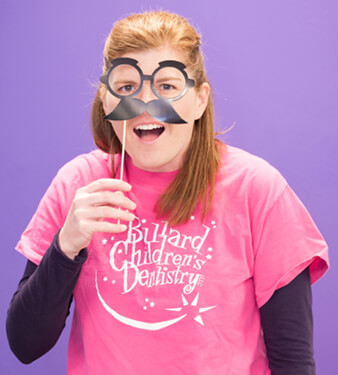 Bullard Children's Dentistry staff member - Stephanie's silly photo