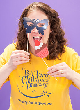 Bullard Children's Dentistry staff member - Angela's silly picture