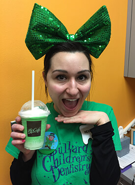 Bullard Children's Dentistry staff member - Heidi on St. Patrick's Day